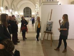 Exhibiting and discussing my work at City Art Gallery - BAS8
